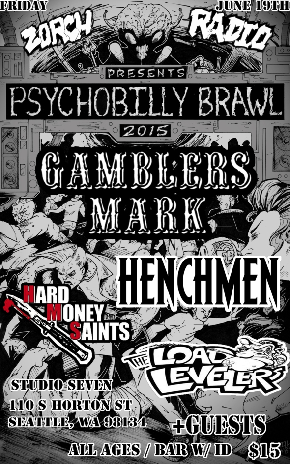 Zorch Radio psychobilly brawl flyer